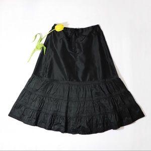 ❣️ J.CREW Silk Lightweight Ruffled Maxi skirt